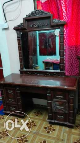 Dressing table and bed
