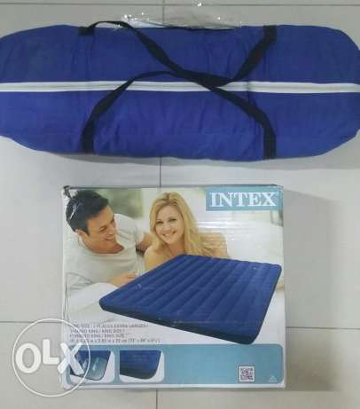 Tendence's Tent-4Person + Intex Mattress -King size