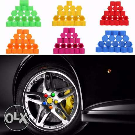 20pcs Silicone Car Wheel Nuts Covers مسقط -  2