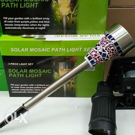 Solar mosaic path light