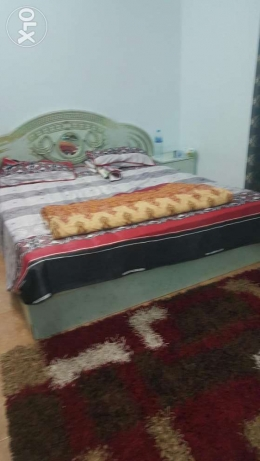 Complete bed set.in sea green colour.