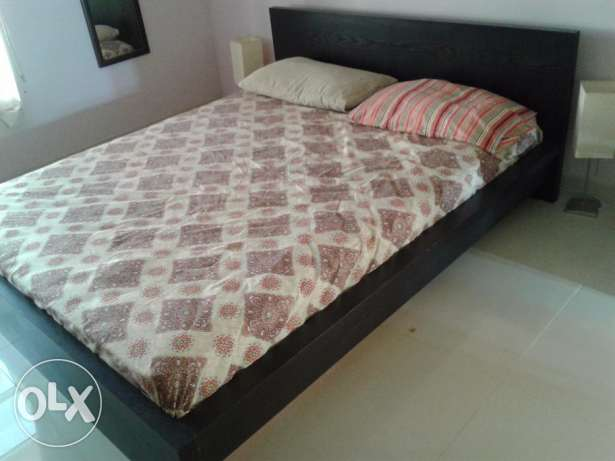 Double bed from ikea مسقط -  2