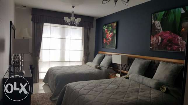 Beautifully Furnished 3BHK Apartment for Rent with Maid's Room بوشر -  3
