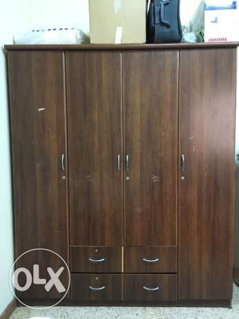 Wooden 4 door Wardrobe مسقط -  1
