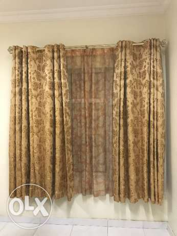 Curtain with rod