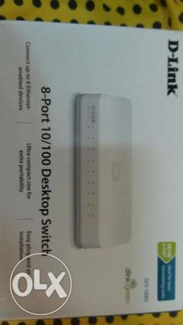 Network Switch New 8 Port & internet Adapter