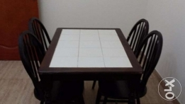 Dining Table+4 Chairs for urgent sale