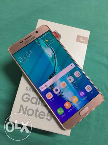 Samsung Galaxy Note5 pink gold with warranty like brand new condition