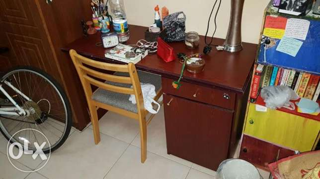 Desk and chair in good condition for OMR 15