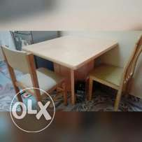 Dining table with two chairs for only 15or