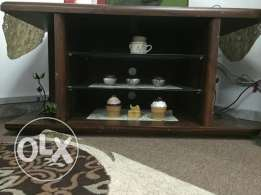 Three compartment TV Table
