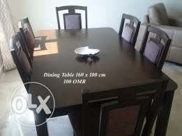 6-seat dining table