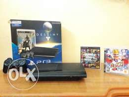 Ps3 500 gb with 2 new cd