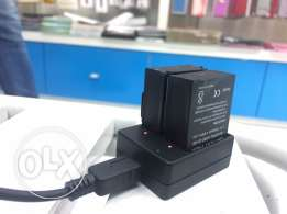 gopro hero 3 + batteries and dual charger بطاريات جو برو هيرو ٣+