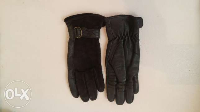 Original Leather and Velvet Gloves