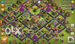 Clash of clans account for sale townhall level 8