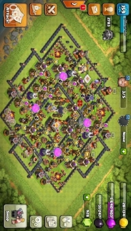 Clash of clans - town hall 11 للبيع