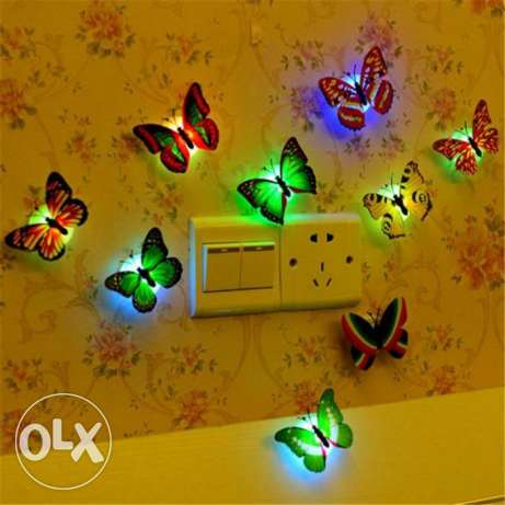 led colour changing butterfly-6 pieces