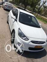 accent 2013 full automatic1.6 original paint free accident oman agency