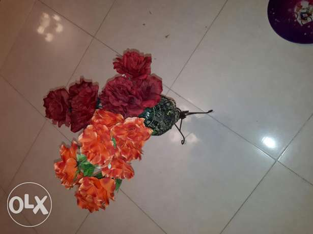 Flowers with iron stand