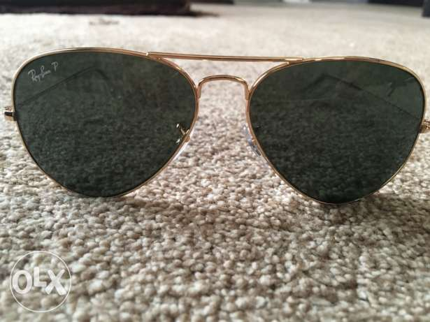 Aviator style Ray Ban sunglasses with case مسقط -  2