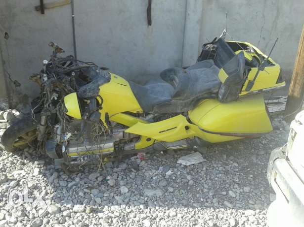 accident motorcycle selling parts of it