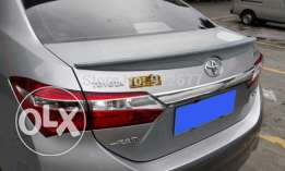 Style Rear Lip Spoiler For Toyota Corolla 2014 Rear Wing Car Spoiler
