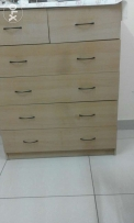 wooden five draws chest