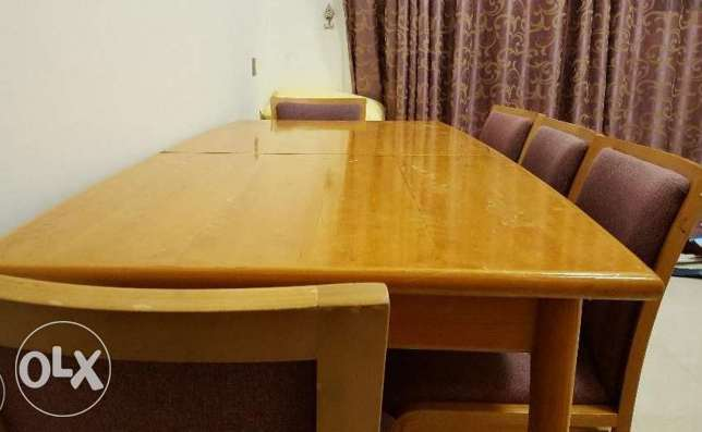 IKEA Dining Table (Excllent Condition) 8 Chairs