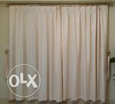 Soft cream colored curtain - Clearing off sale