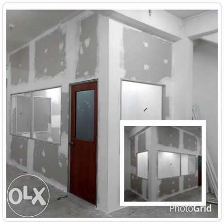 gypsum board partition work
