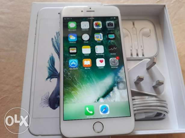 Iphone 6s plus silver with all original accessories