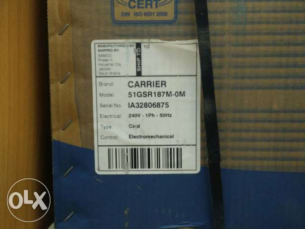 New company packed Carrier Air Conditioner 1.5 ton. 95 Omani rial only