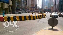 Road safety concrete barriers readily available