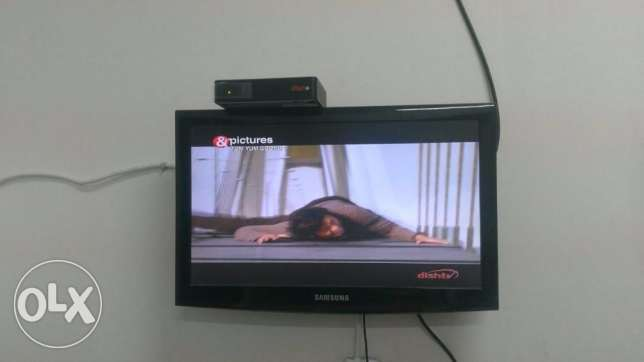 Samsung 22 inch LCD TV with DISH TV, Full Setup