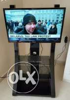 TV with stand and receiver for sale