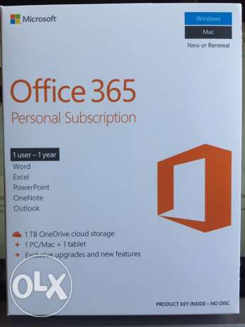 Office 365 new for one year and one user