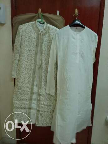 Sherwani with Kurta & Pajama ( Size 40 ) along with 2 blazers(Size 40) الغبرة الشمالية -  3