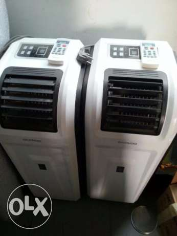 2 Air Conditions-Portable Type-Hardly Used-4 Months Old-For Sale