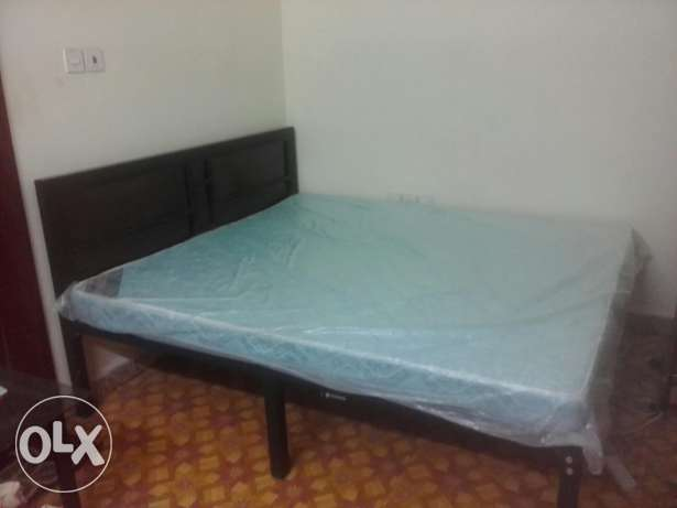 Steel bed along with Raha mattresses for urgent sale.