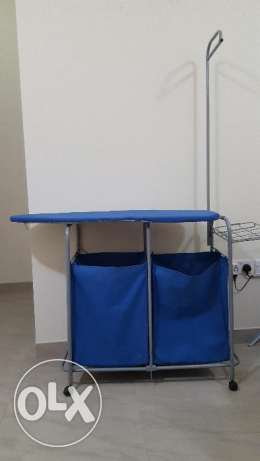 Ironing Stand with Laundry Bags and Full Set in Excellent Condition