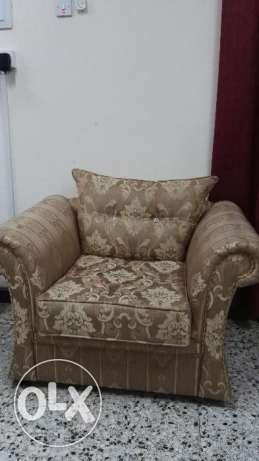 sofa chairs-2, 1 king size MDFcoat with Bed and 1 king size iron coat مسقط -  1