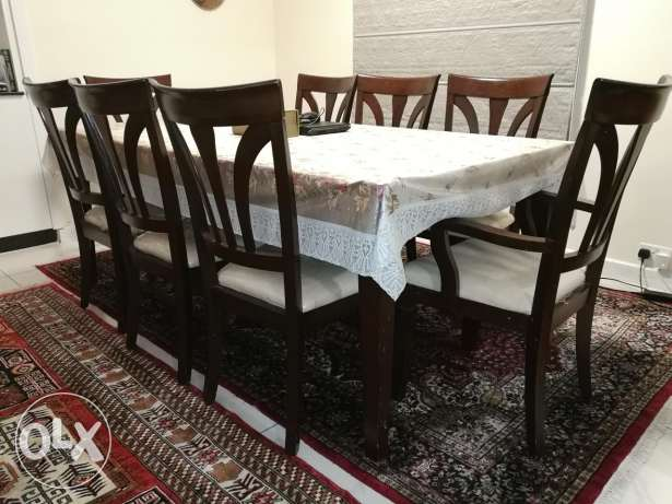 8 seater dining table + coffee table + TV cabinet