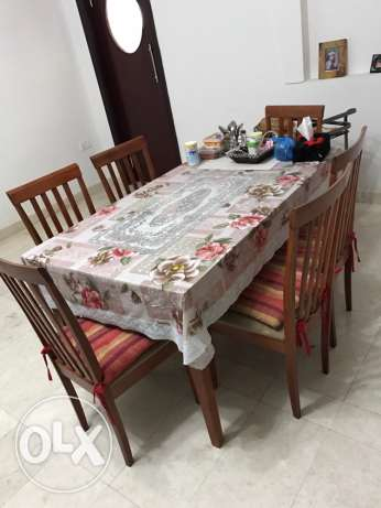 dining table with 6 chairs مسقط -  3