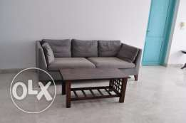 Ikea sofa with coffee table