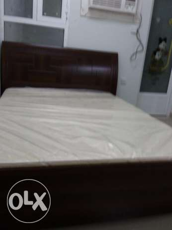 Queen size bed with Raha mattress brand new condition for sale مسقط -  2