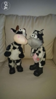 A couple of cows toy .