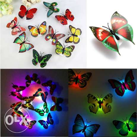 led butterfly - 4 pieces