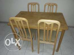 Dinning Table with 4 Chairs and Metal Cot in Excellent Condition