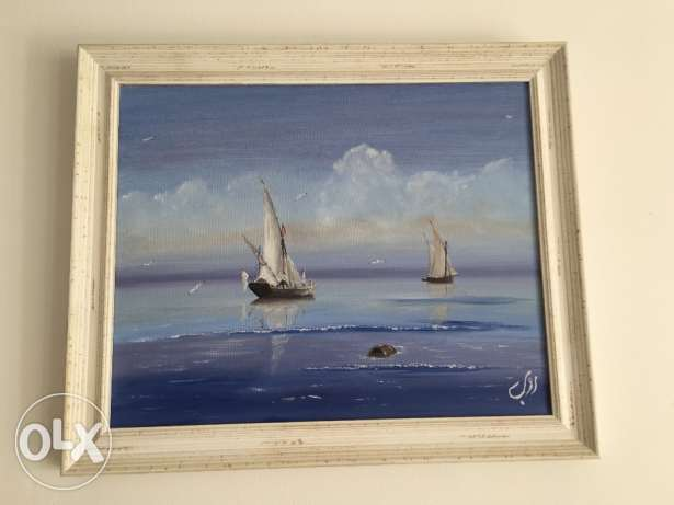 Original oil paint unwanted gift